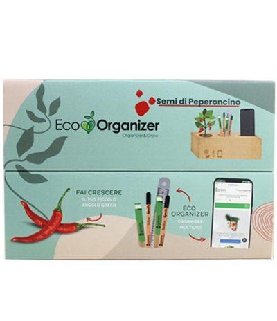 Eco Organizer Porta Penne/Matite & Appoggia Telefono con Peperoncino