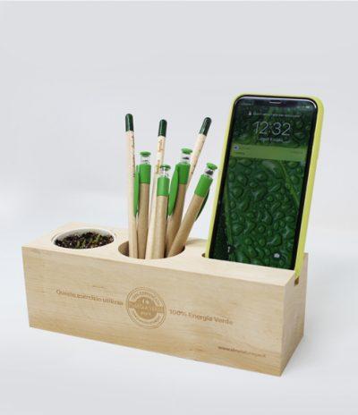 Eco Organizer Porta Penne/Matite & Appoggia Telefono per Etruria Verde