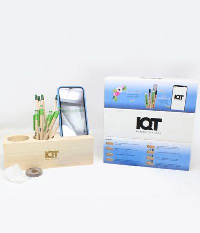 Eco Organizer Porta Penne/Matite & Appoggia Telefono per IQT