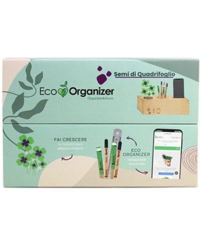 Eco Organizer Porta Penne/Matite & Appoggia Telefono con Quadrifoglio