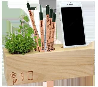 Render Eco Organizer Porta Penne/Matite & Appoggia Telefono Versione Standard