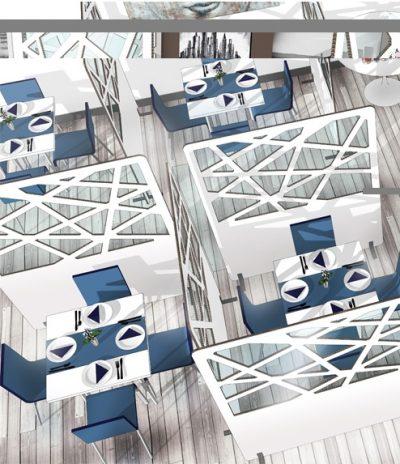 Pannelli Divisori Autoportanti Colore Bianco immagine 7