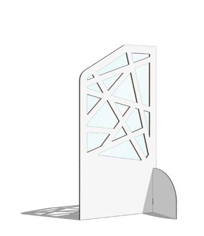 Divisori per Sale d'Attesa Geometrico Colore Bianco
