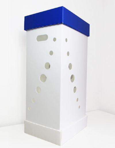 Eco Light Contenitori Raccolta Differenziata per Uffici & Scuole Mono Raccolta Blu