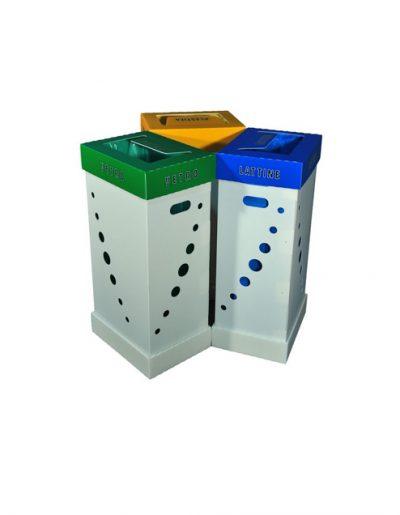 Eco Light Contenitori Raccolta Differenziata per Uffici & Scuole con 3 colori diversi da 100 Lt