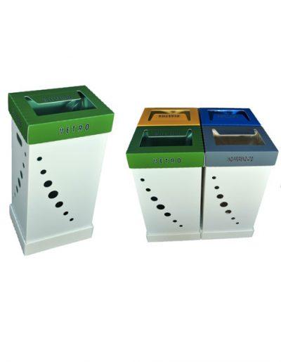 Eco Light Contenitori Raccolta Differenziata per Uffici & Scuole con 4 colori diversi da 100 Lt