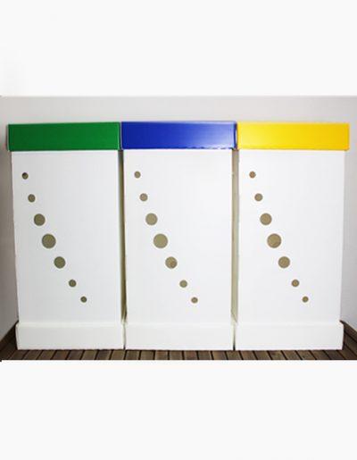 Eco Light Contenitori Raccolta Differenziata per Uffici & Scuole con 3 colori da 100 Lt