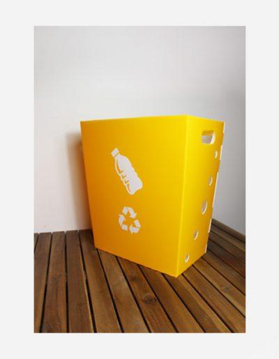 Eco Light Contenitori Raccolta Differenziata per Uffici & Scuole giallo da 40 Lt