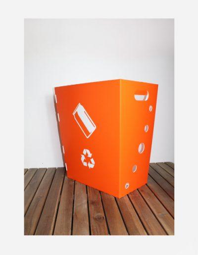 Eco Light Contenitori Raccolta Differenziata per Uffici & Scuole arancione da 40 Lt
