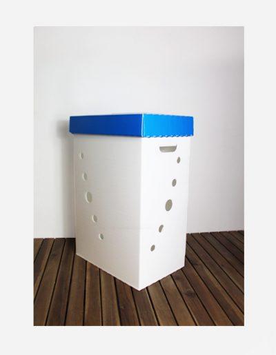 Eco Light Contenitori Raccolta Differenziata per Uffici & Scuole blu da 60 Lt