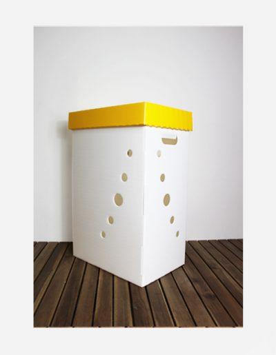 Eco Light Contenitori Raccolta Differenziata per Uffici & Scuole giallo da 60 Lt