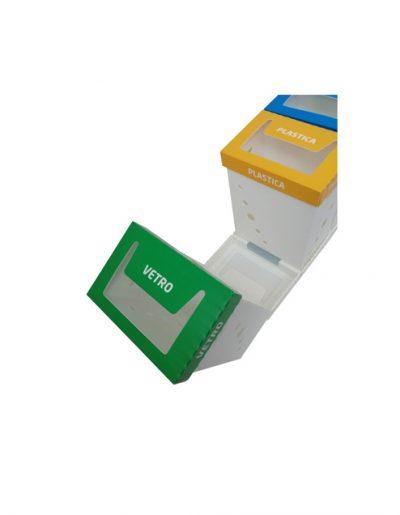 Eco Light Contenitori Raccolta Differenziata per Uffici & Scuole con 3 colori diversi da 60 Lt
