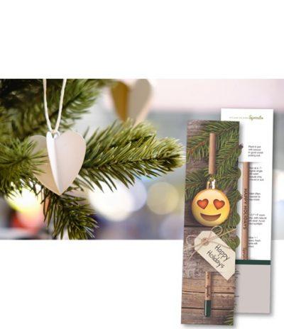 Matita Sprout Piantabile Confezione Personalizzata versione Christmas Tree Confezione Personalizzata Fronte e Retro