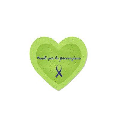Formina Cuore in Carta Piantabile per Unite per la Prevenzione