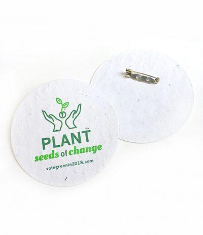 Spille in Carta Piantabile con scritta PLANT personalizzazione Fronte & Retro