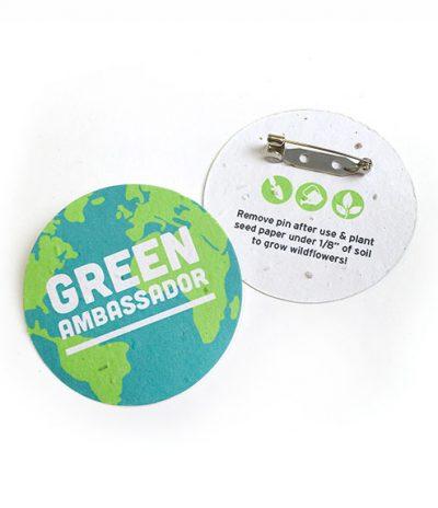 Spille in Carta Piantabile per Green Ambassador con personalizzazione Green Fronte & Retro