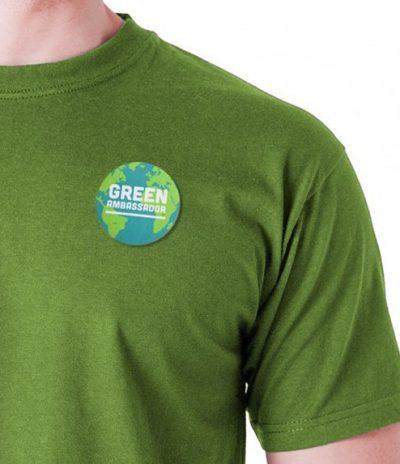 Spille in Carta Piantabile per Green Ambassador con personalizzazione Green Indossata